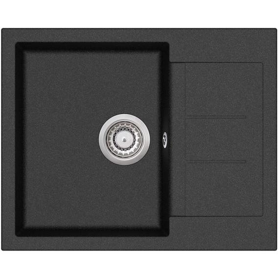 EVIDO Cubo 45S compact gránit mosogató 620x500 fekete