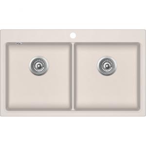 EVIDO Quadro 9 gránit mosogató 860x510 két med. bézs
