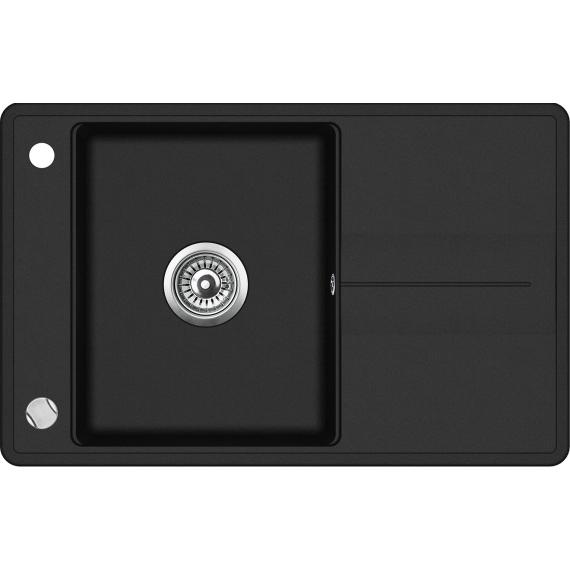 EVIDO Bella 5S gránit mosogató 780x500 fekete