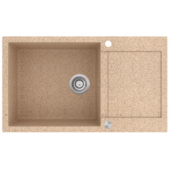 EVIDO Cubo XL 6S compact gránit mosogató 860x500 homok