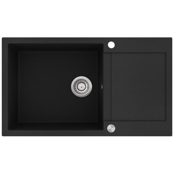 EVIDO Cubo XL 6S compact gránit mosogató 860x500 fekete