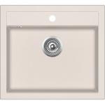 EVIDO Quadro 6 gránit mosogató 562x510 egy med. bézs