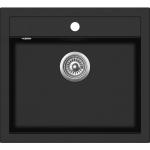 EVIDO Quadro 6 gránit mosogató 562x510 egy med. fekete