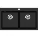 EVIDO Quadro 9 gránit mosogató 860x510 két med. fekete